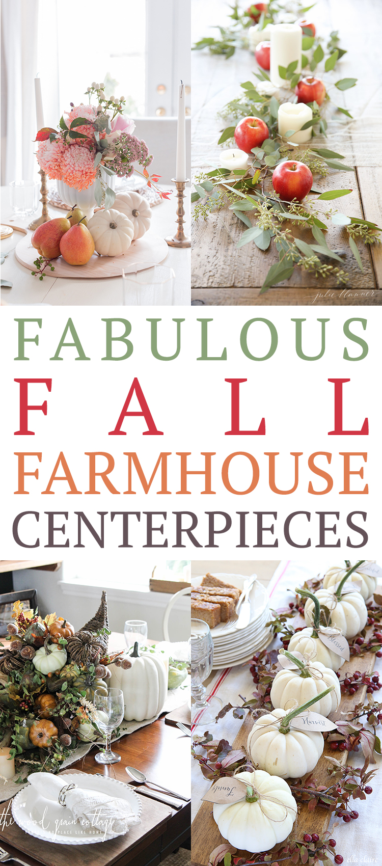 Fabulous Fall Farmhouse Centerpieces