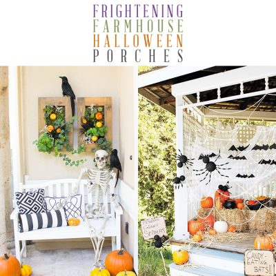 Frightening Farmhouse Halloween Porches