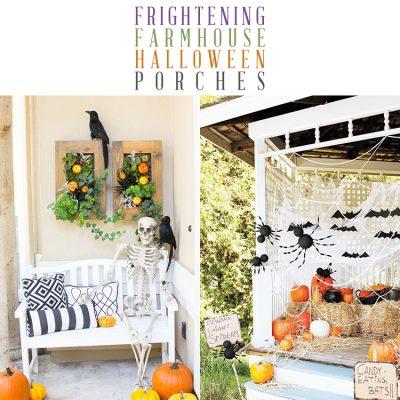 Frightening Farmhouse Halloween Porches