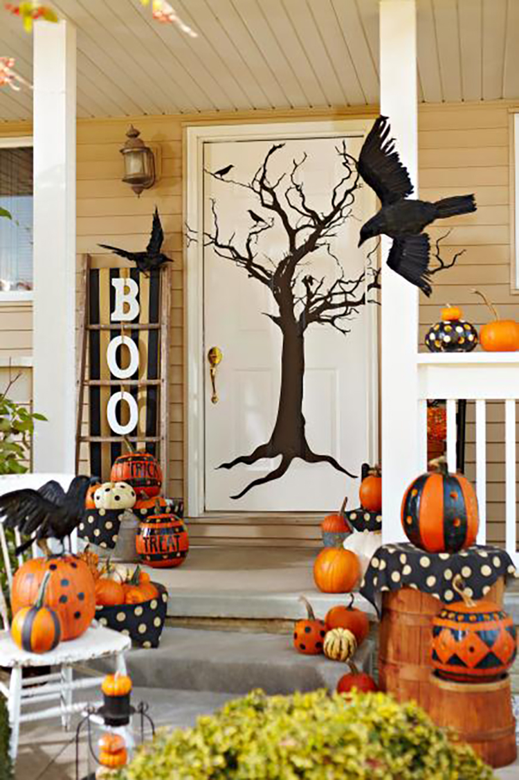 Halloween Front Porch Decorating Ideas's Decorating