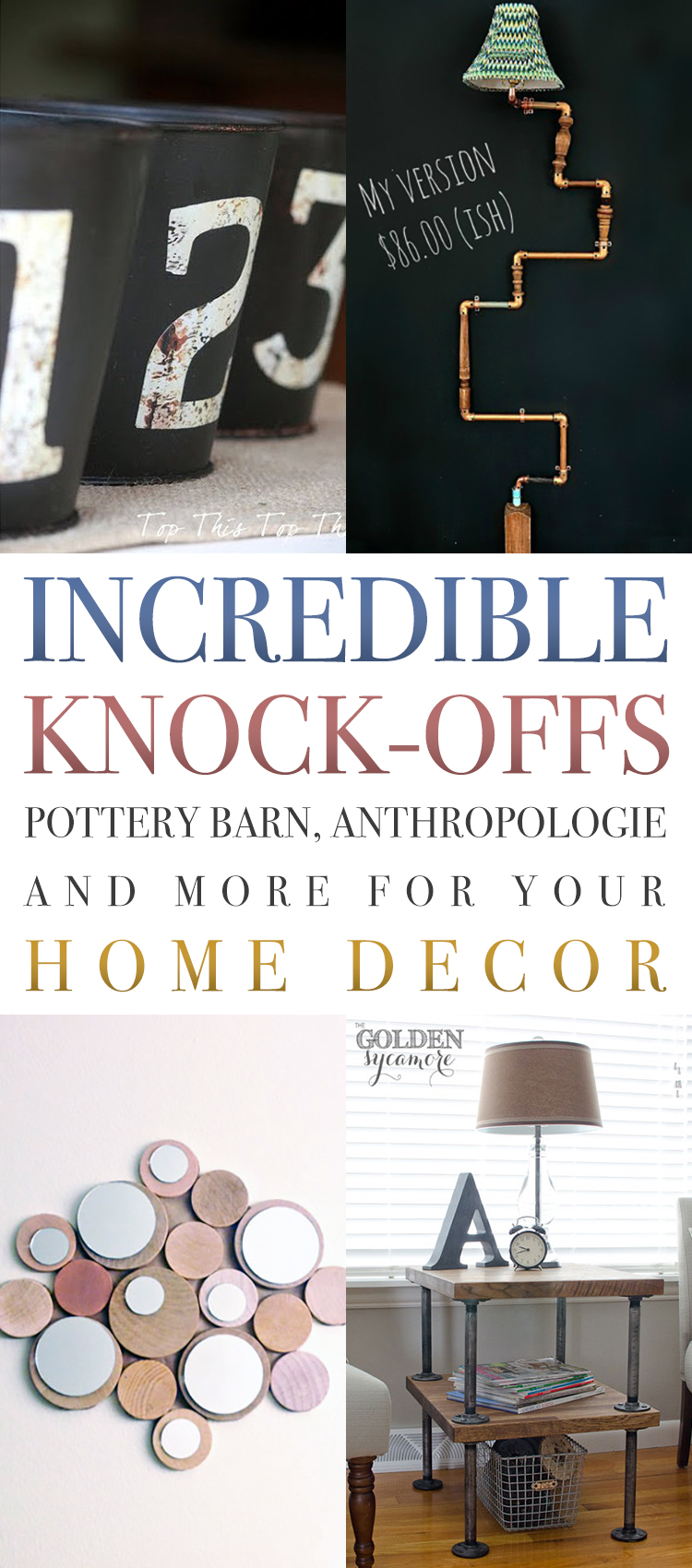 Incredible Knock Offs Pottery Barn, Anthropologie And More For Your Home  Decor