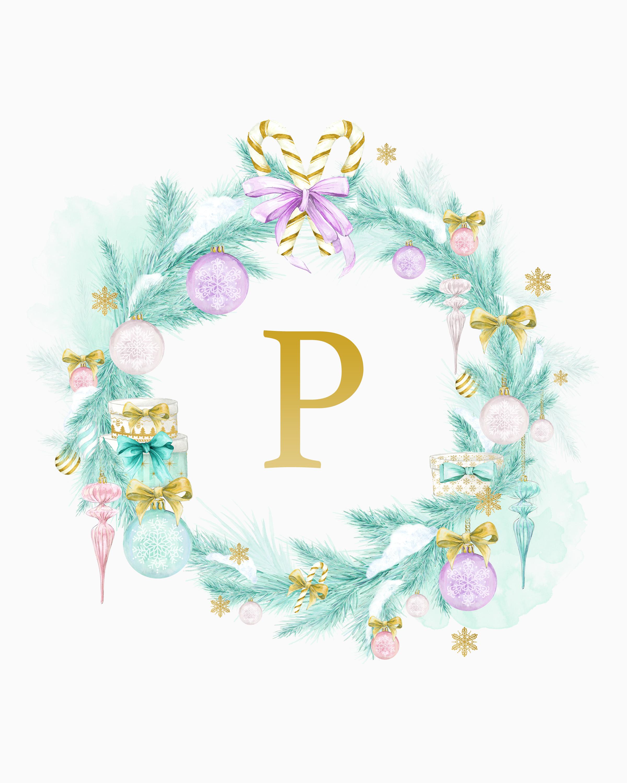 free printable cottage farmhouse christmas monograms - Christmas Monograms