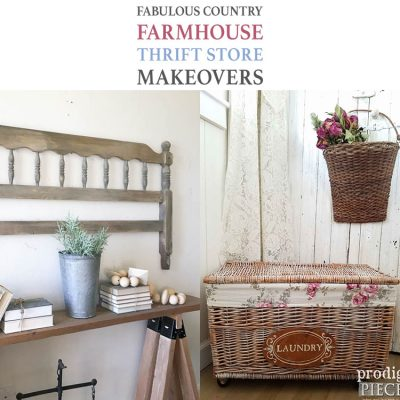 Fabulous Country Farmhouse Thrift Store Makeovers