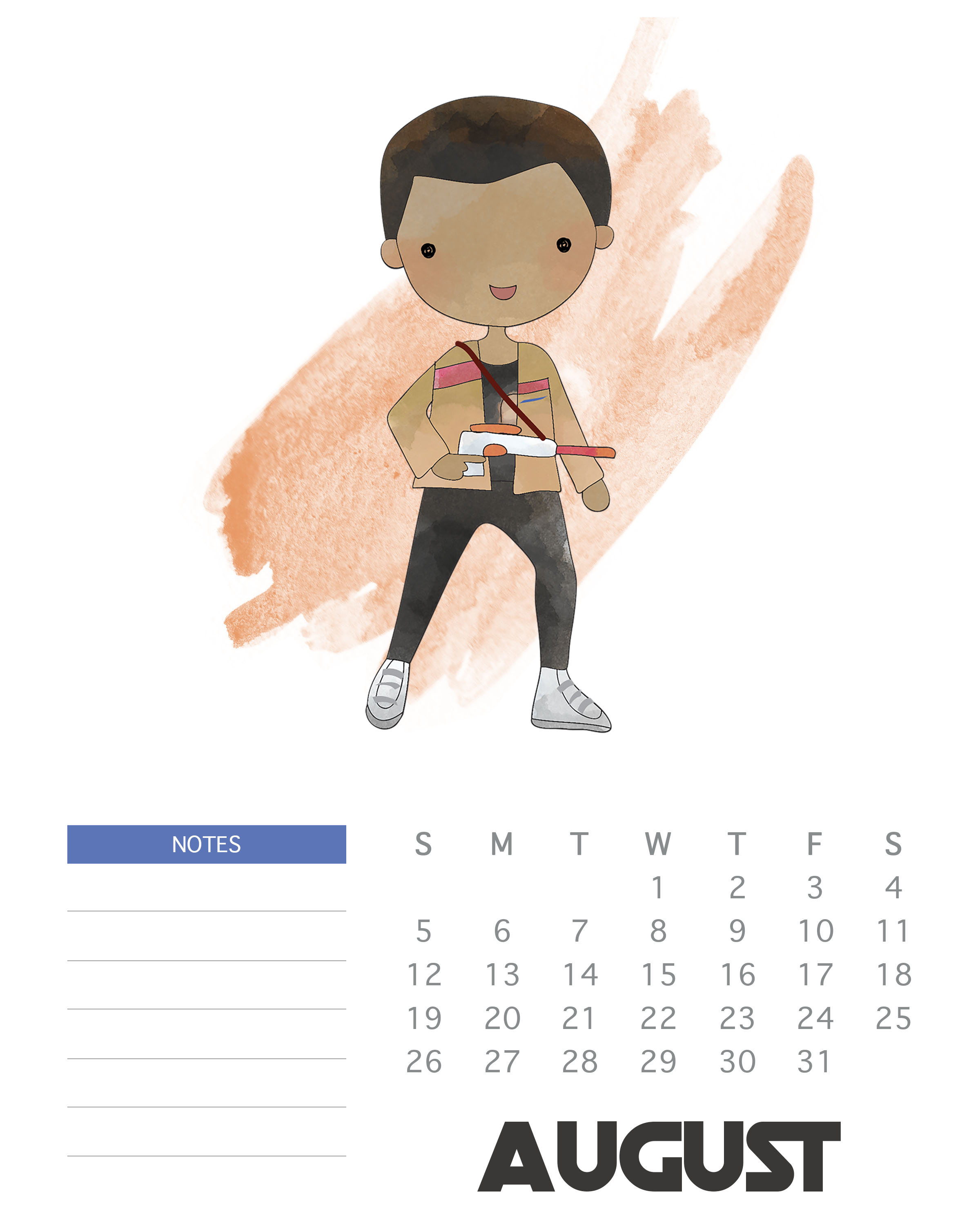princess leia printable star wars calendar september 2018