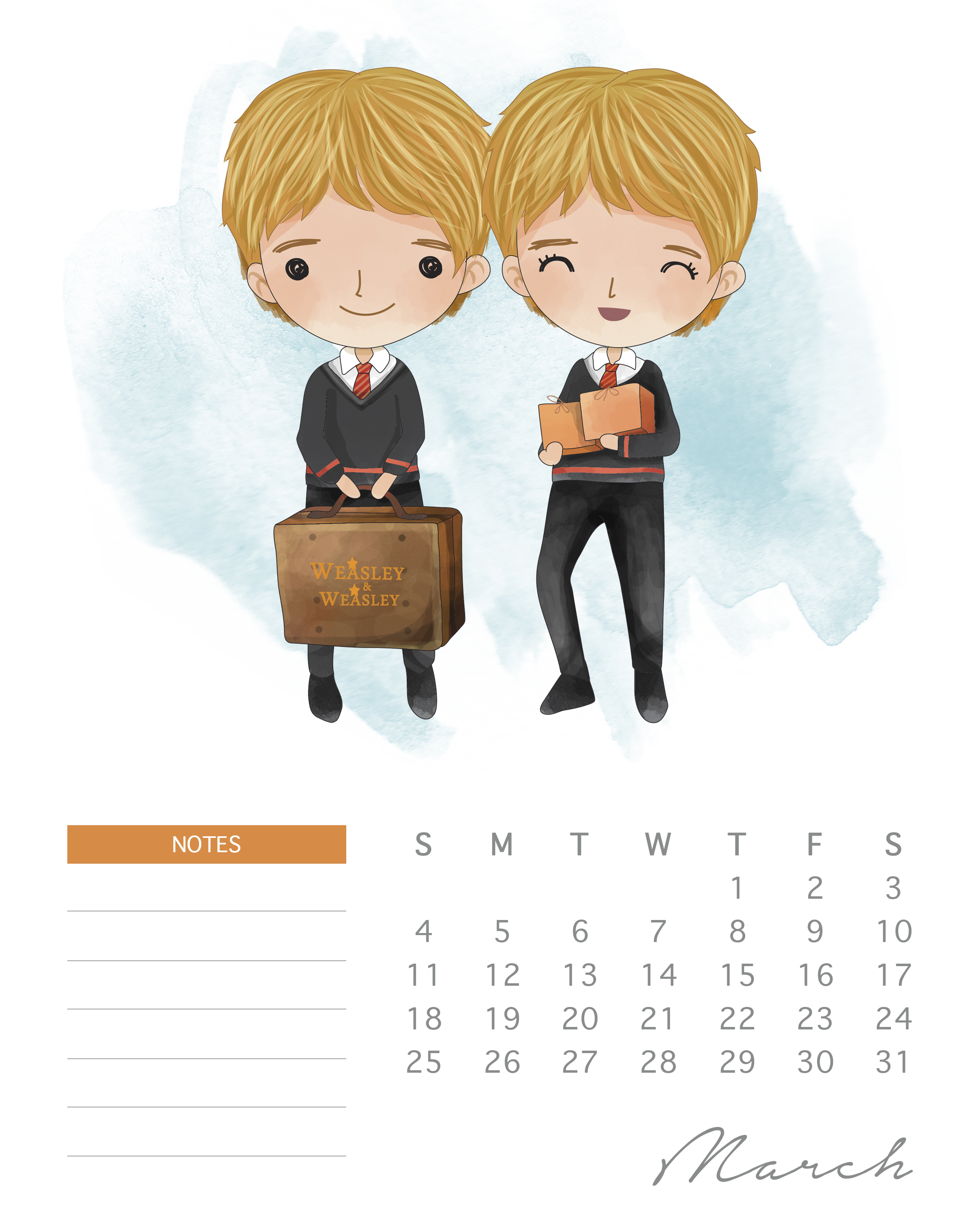 All New Free Printable  Harry Potter Calendar  Free