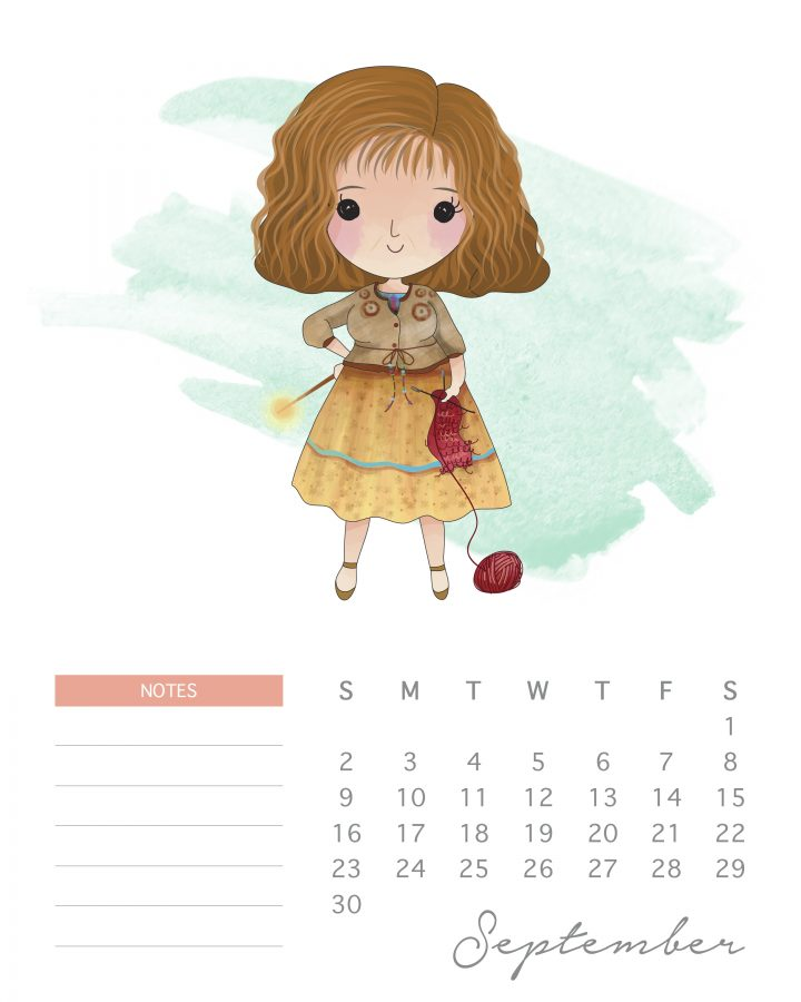 Mrs. Weasley is ready to knit some sweaters in our new Harry potter character calendar