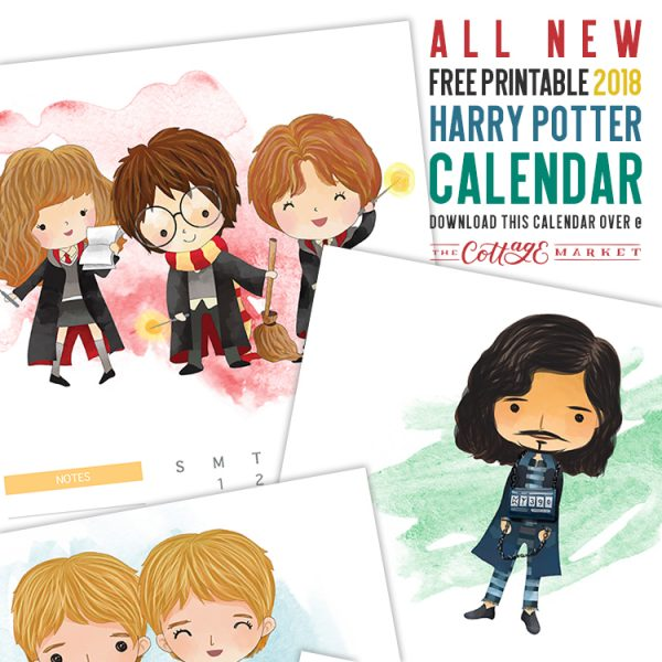All New Free Printable 2018 Harry Potter Calendar