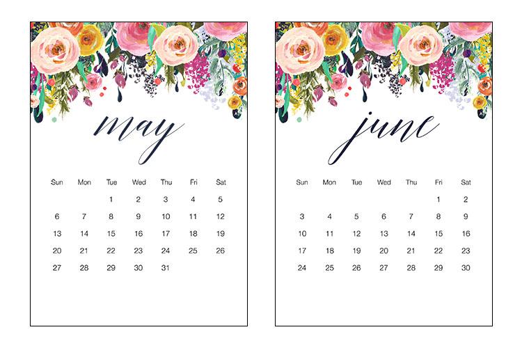 calendar may and june 2018
