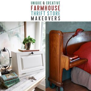 Unique and Creative Farmhouse Thrift Store Makeovers