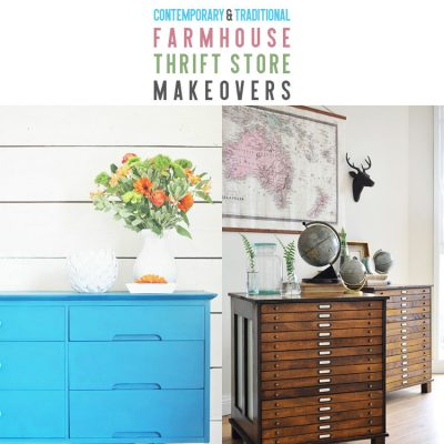 Contemporary and Traditional Farmhouse Thrift Store Makeovers