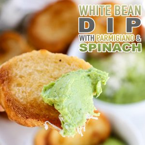 White Bean Dip with Parmigiano and Spinach