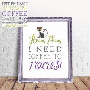Free Printable Halloween Coffee Wall Art