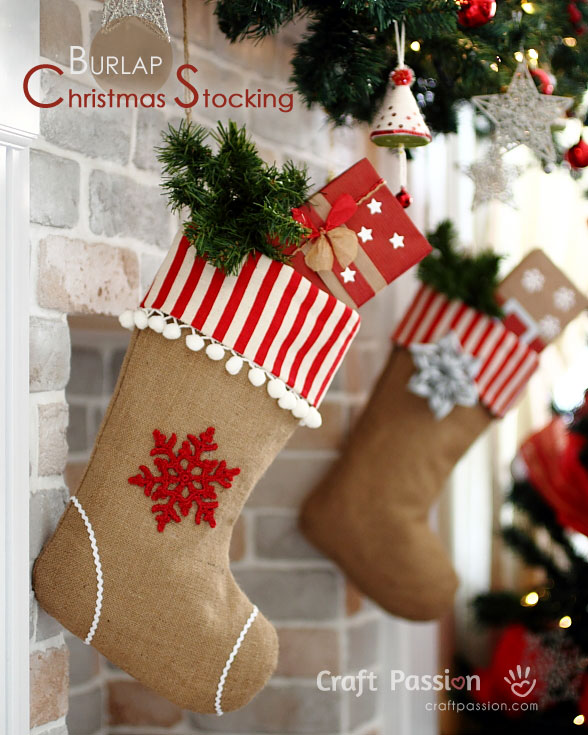 diy christmas stockings waiting to be filled - Homemade Christmas Stockings