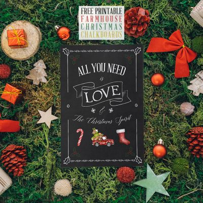 Free Printable Farmhouse Christmas Chalkboards