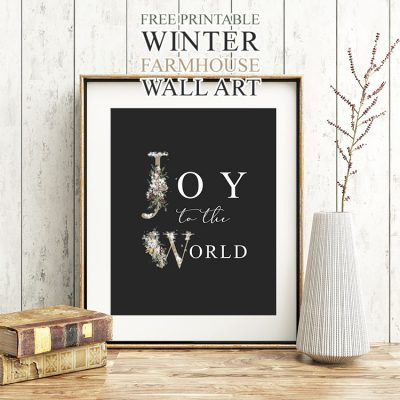 Free Printable Winter Farmhouse Wall Art