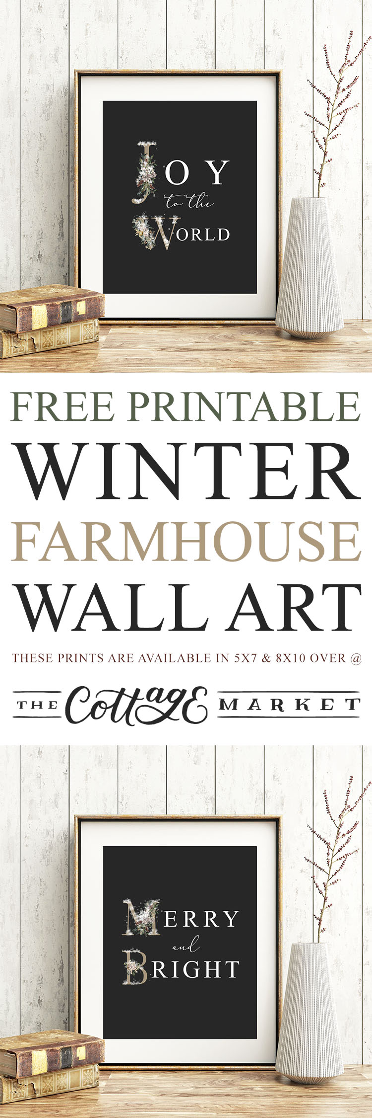 Free Printable Winter Farmhouse Wall Art - The Cottage Market