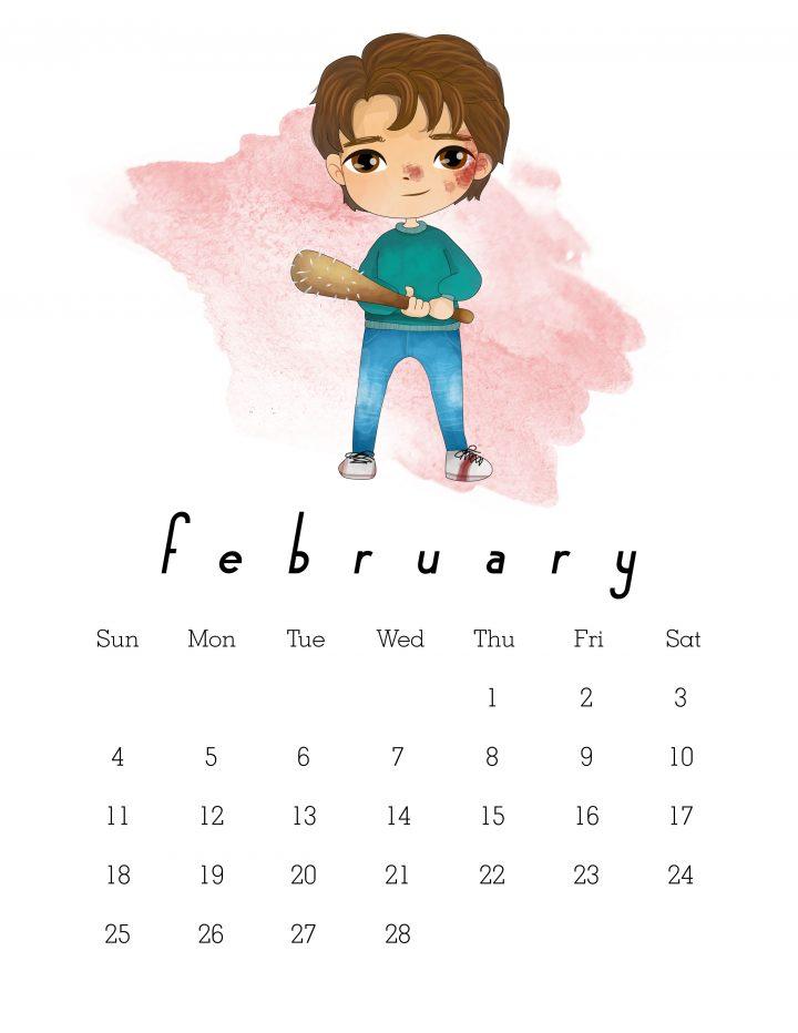 free printable 2018 stranger things calendar the cottage market