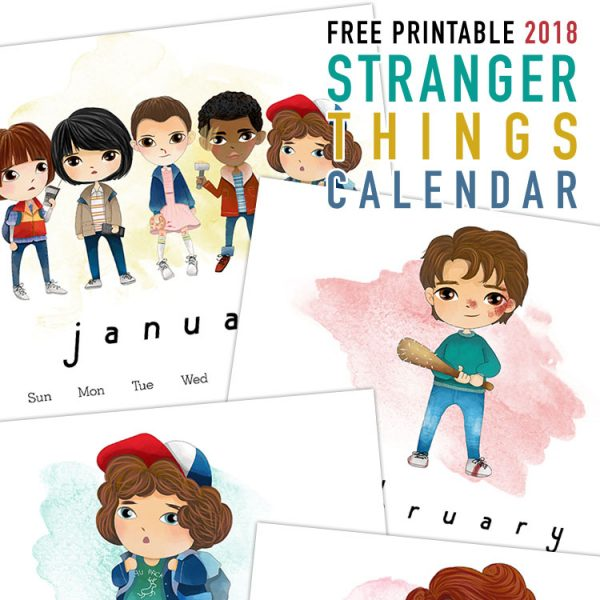 Free Printable 2018 Stranger Things Calendar