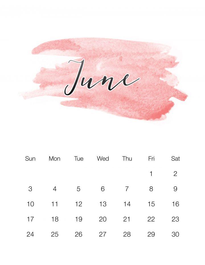 Red Watercolor Wash - June