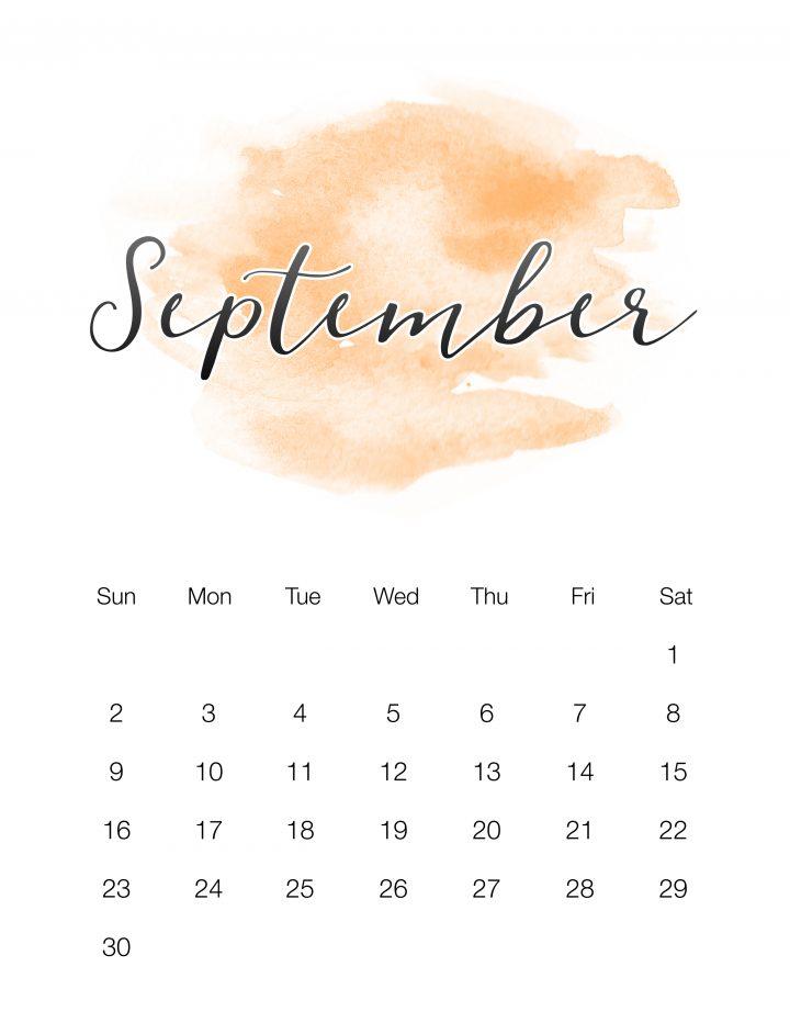 Orange Watercolor Wash - September