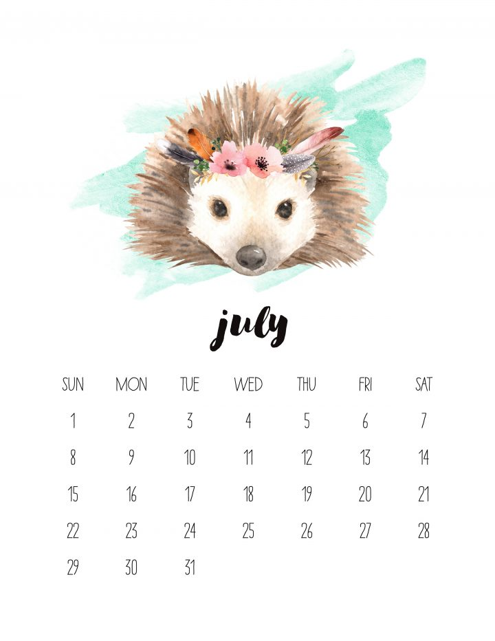This flowery hedgehog is the friendly face of July 2018