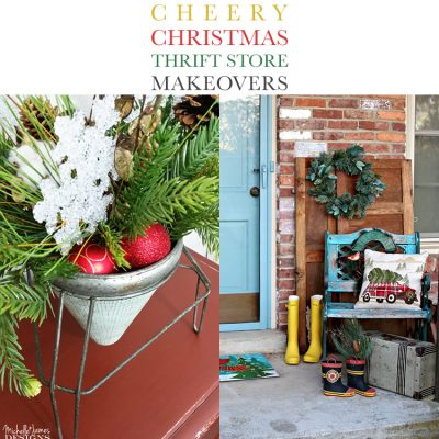 Cheery Christmas Thrift Store Makeovers