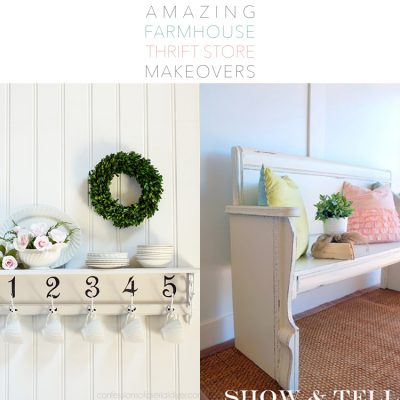 Amazing Farmhouse Thrift Store Makeovers