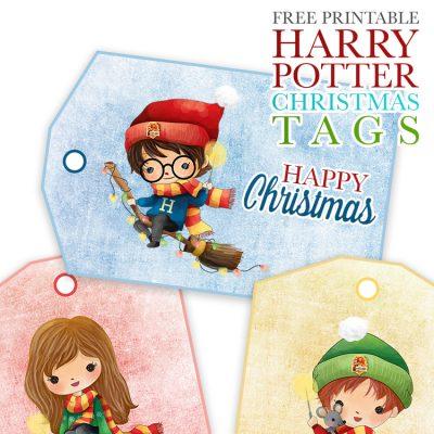 Free Printable Harry Potter Christmas Tags
