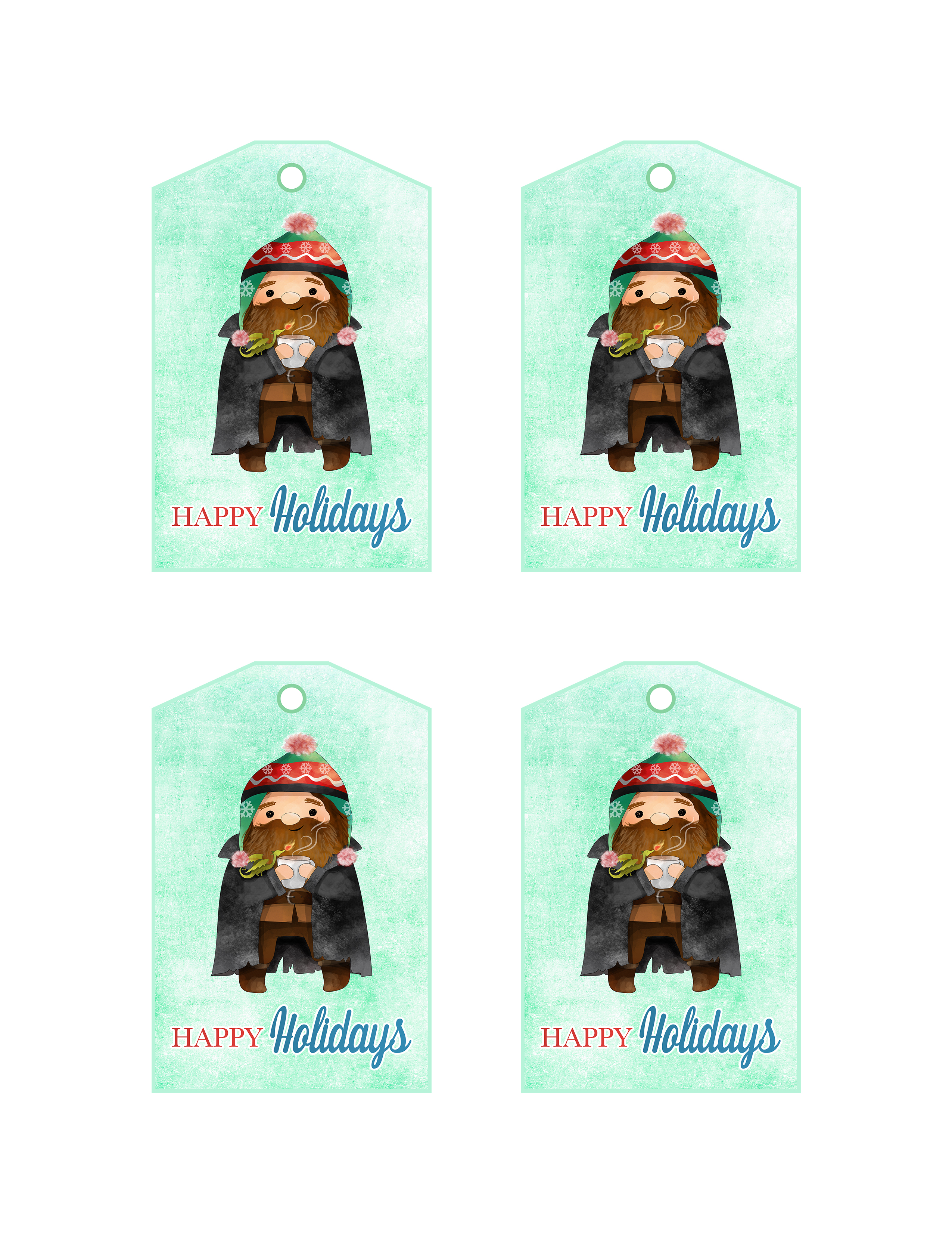 Free printable harry potter christmas tags the cottage market seasons greetings ron weasley bookmarktalkfo Image collections