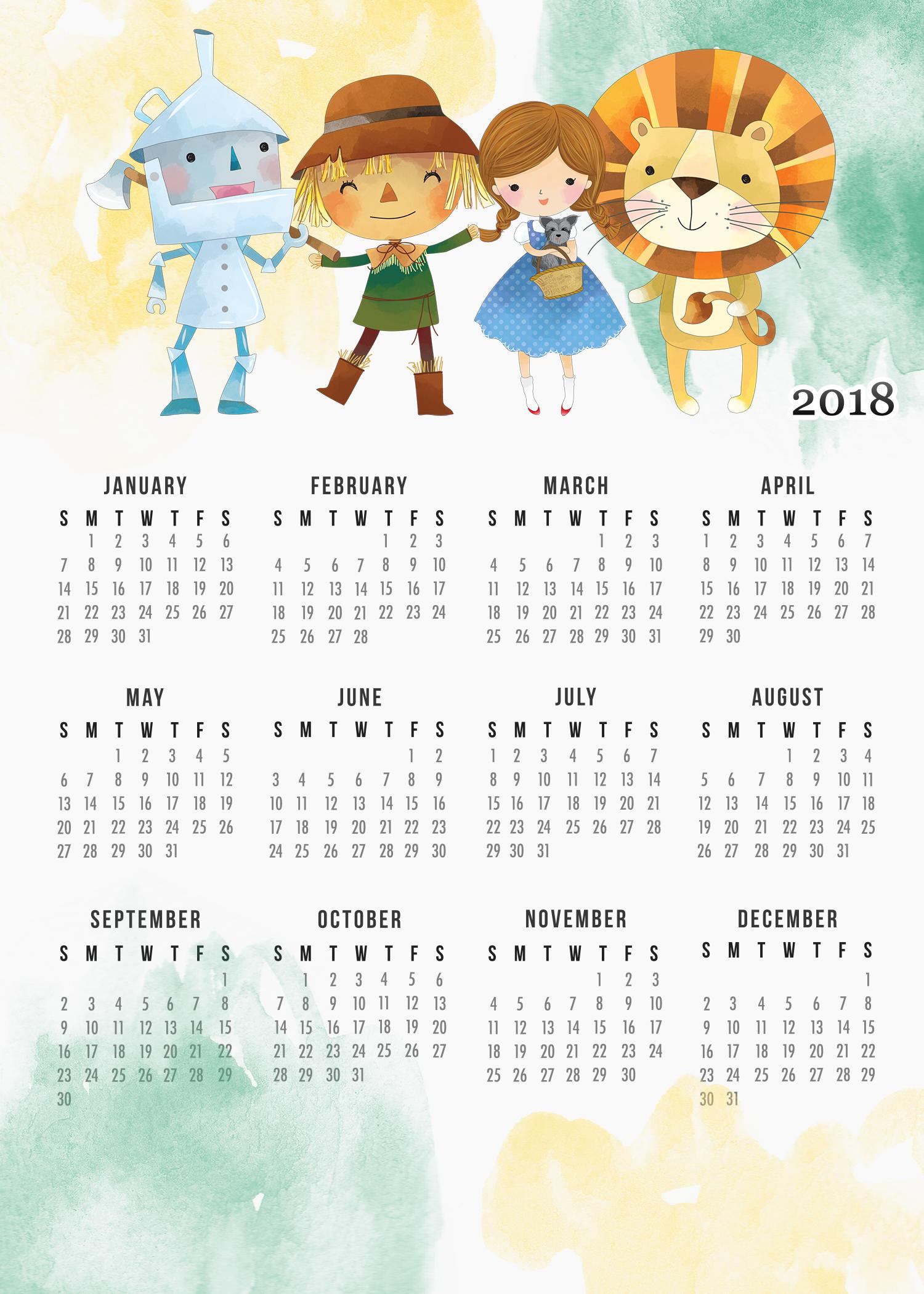 calendar wizard 2018