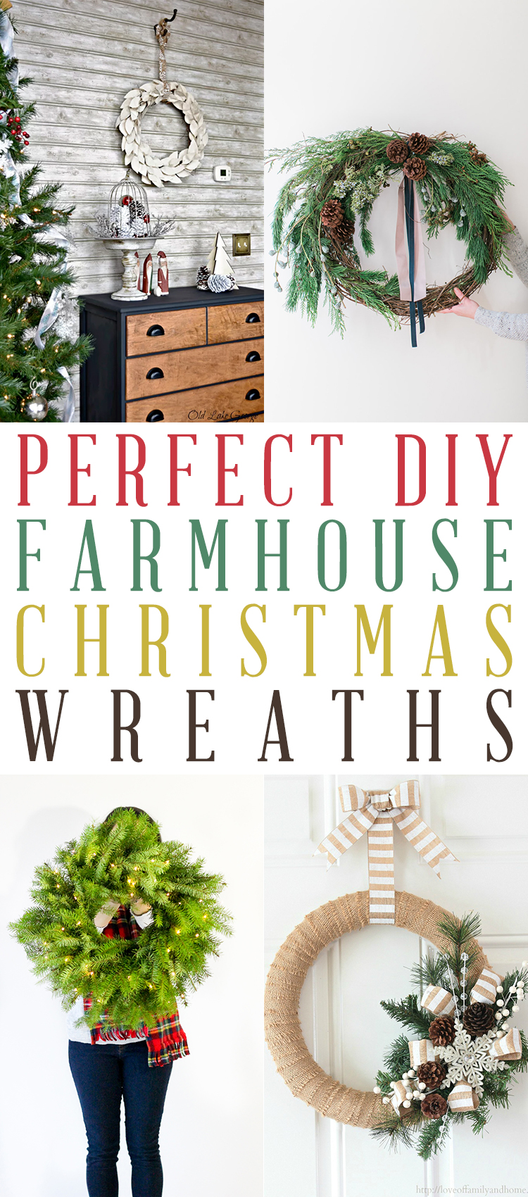 Perfect DIY Farmhouse Christmas Wreaths