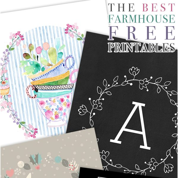 The Best Farmhouse Free Printables