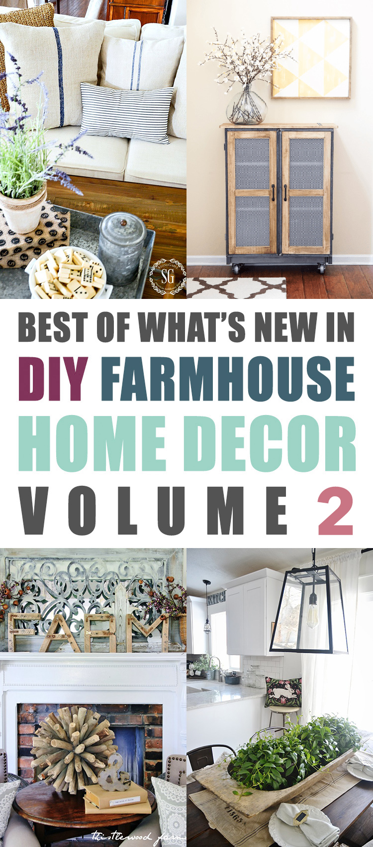 The Best Of What's New In DIY Farmhouse Home Decor Volume 2