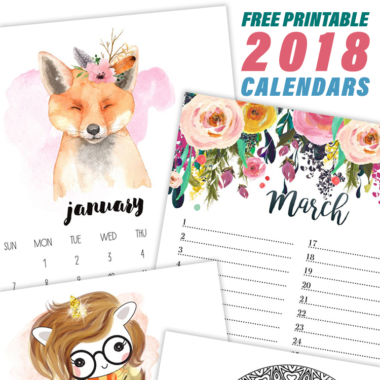 Free Printable  Calendars  The Cottage Market