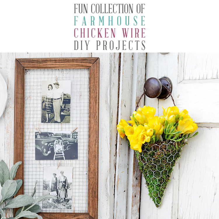 Fun Collection of Farmhouse Chicken Wire DIY Projects - The Cottage ...