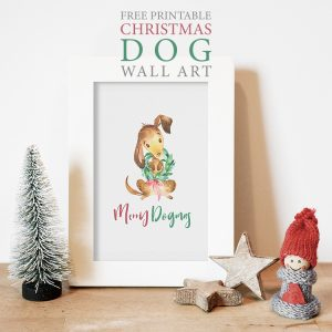 Free Printable Christmas Dog Wall Art