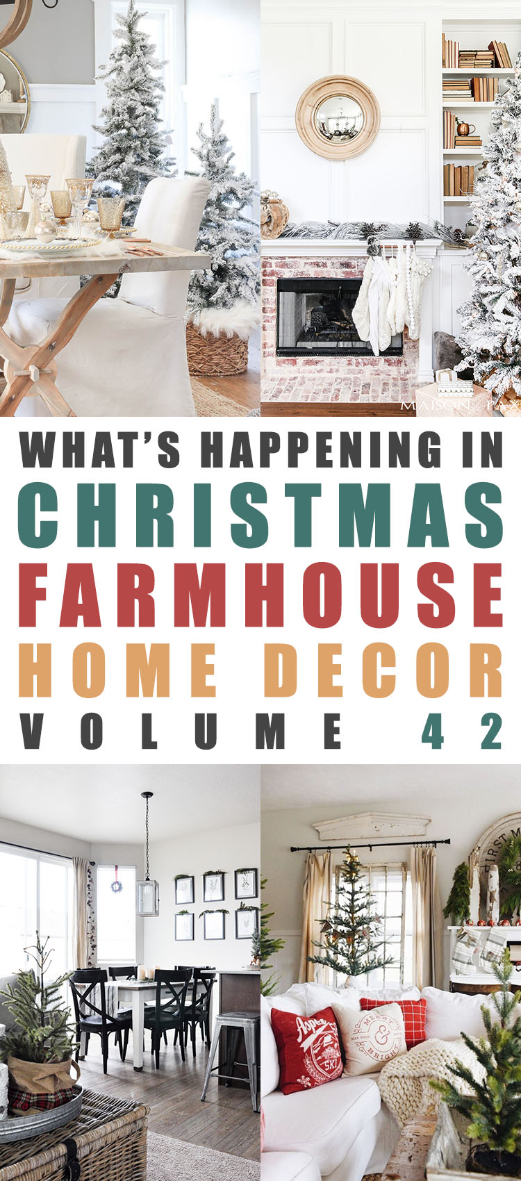What's Happening In Christmas Farmhouse Home Decor Volume 42