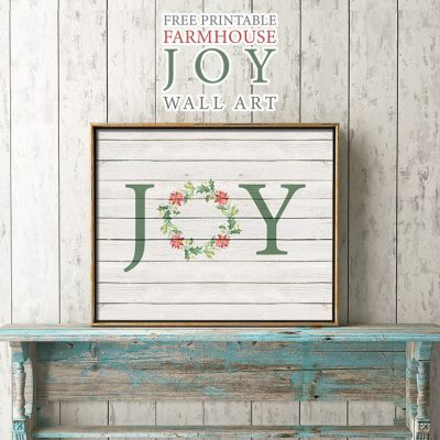 Free Printable Farmhouse Joy Wall Art