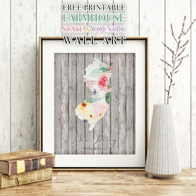 Free Printable Farmhouse State and Country Wall Art