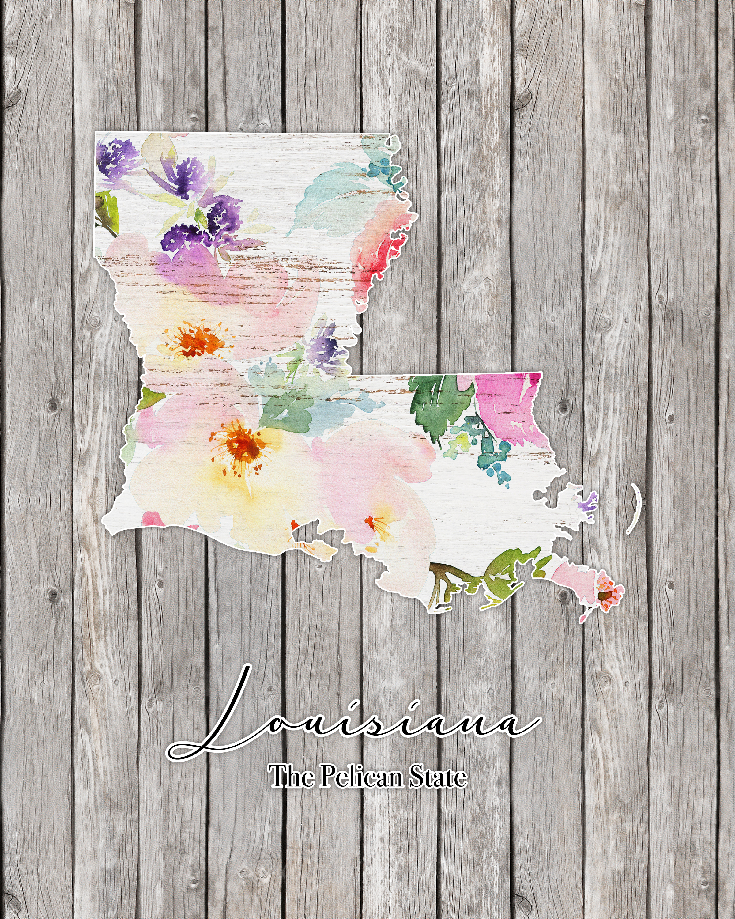 Free Printable Farmhouse State and Country Wall Art - The Cottage Market