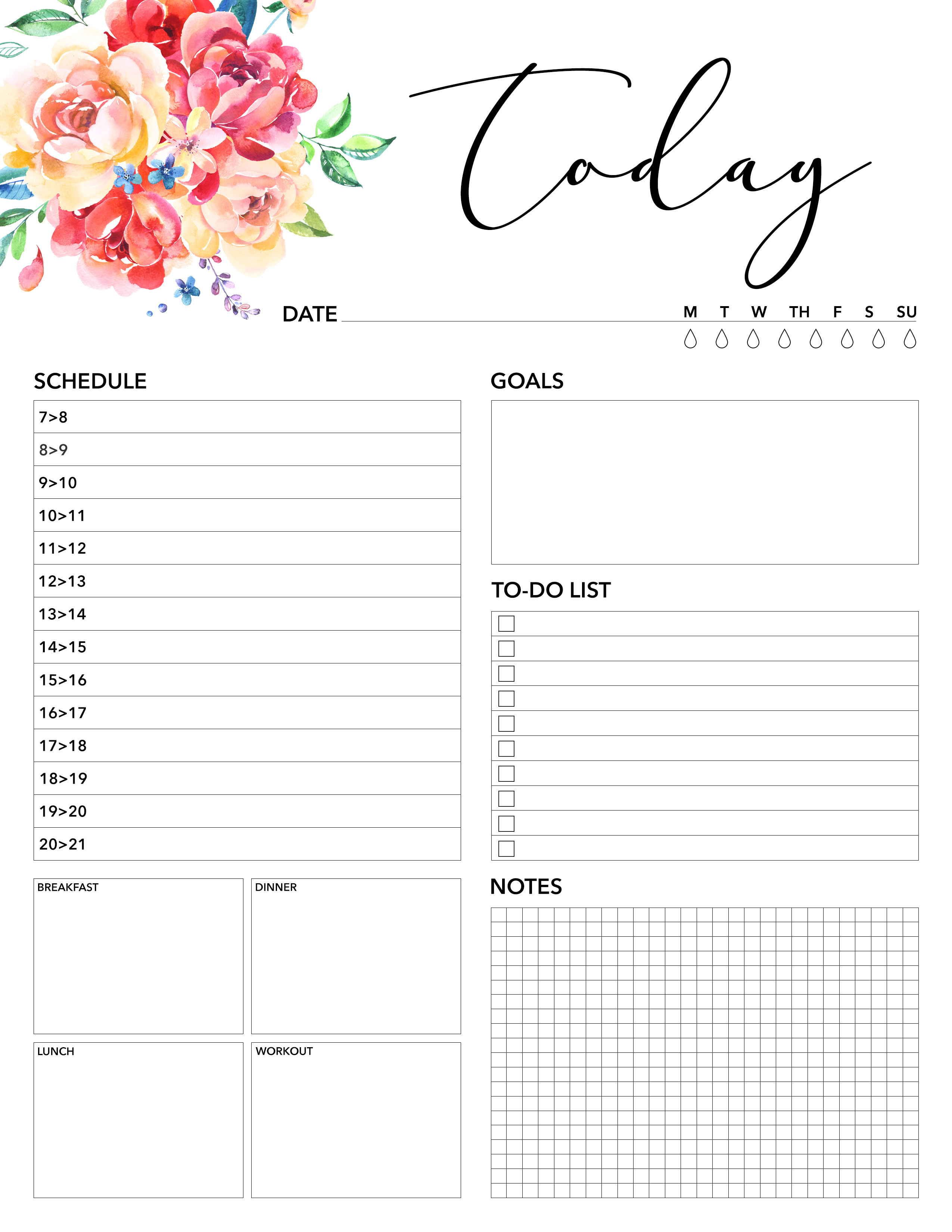 picture regarding Free Weekly Planner Printable called Absolutely free Printable 2019 Planner 50 In addition Printable Web pages!!! - The