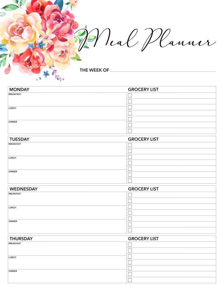 Impertinent image within weekly planner printable free