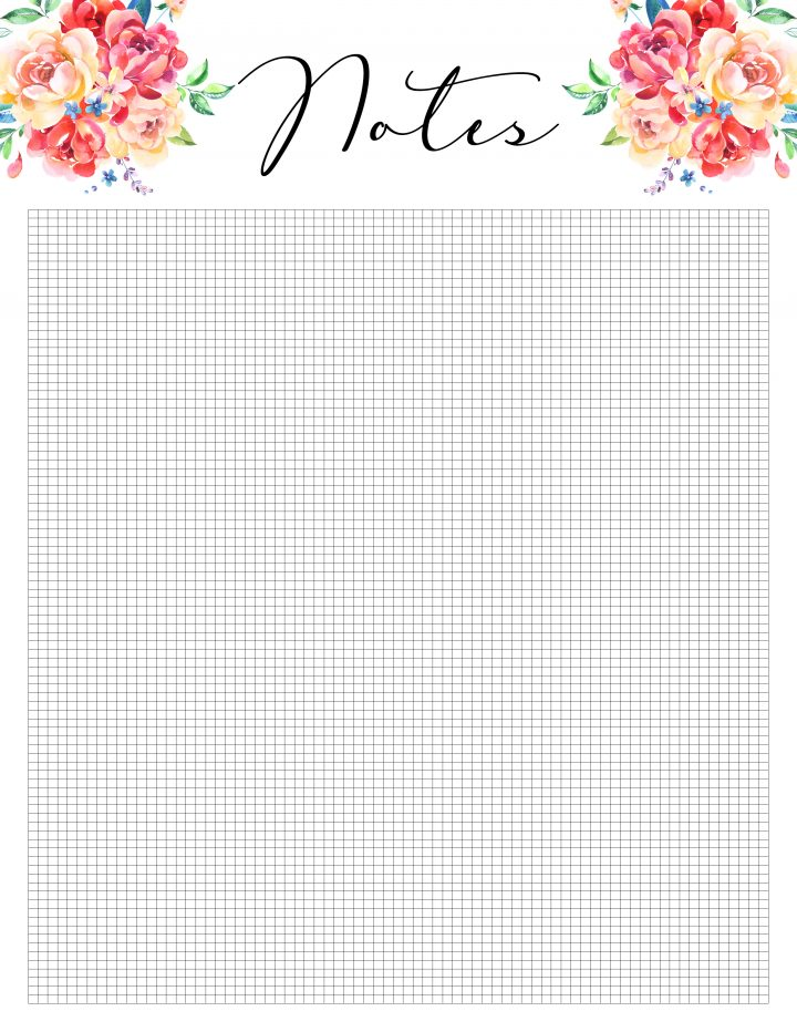 photograph relating to Printable Notes Page referred to as Totally free Printable 2019 Planner 50 Furthermore Printable Webpages!!! - The