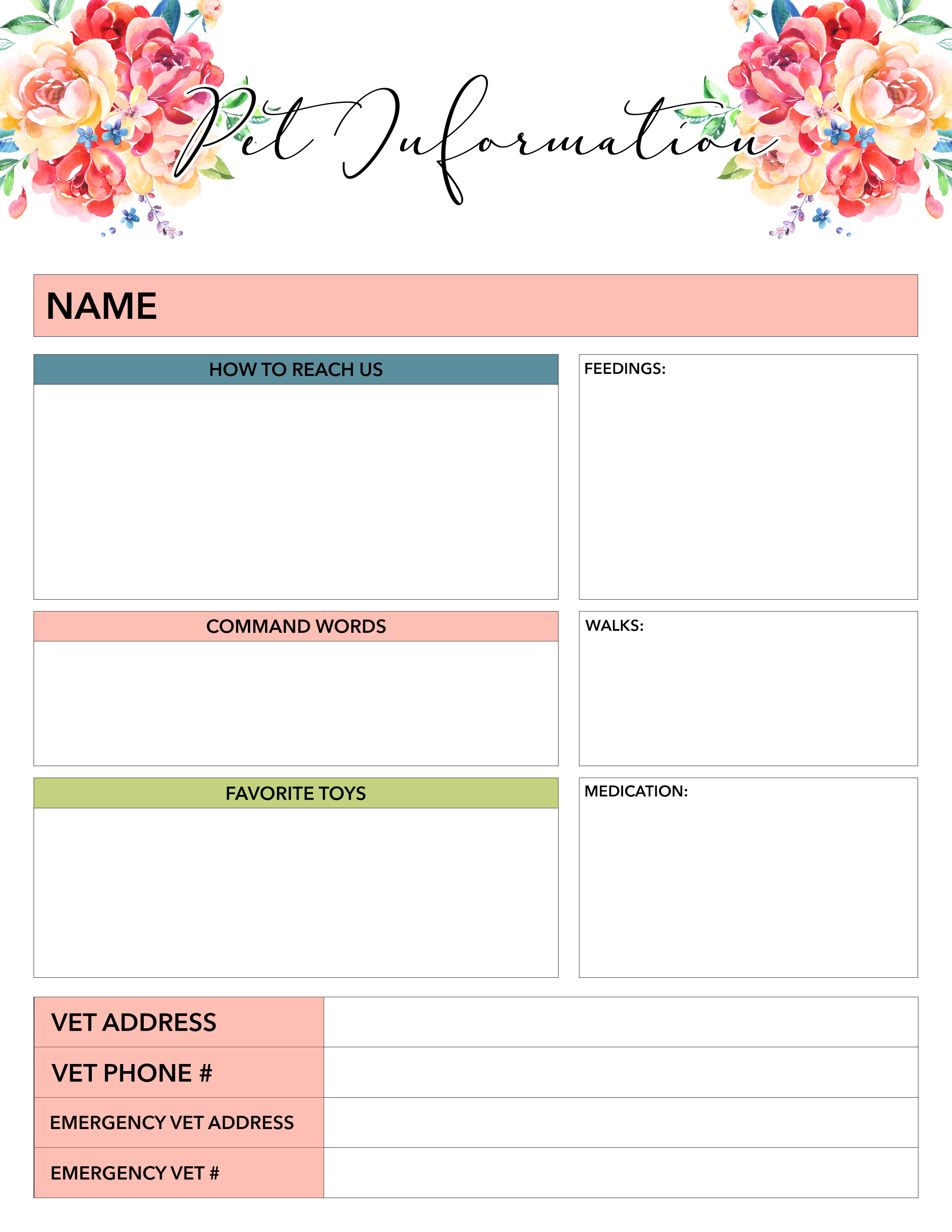 Free Printable 2019 Planner 50 Plus Printable Pages!!! - The