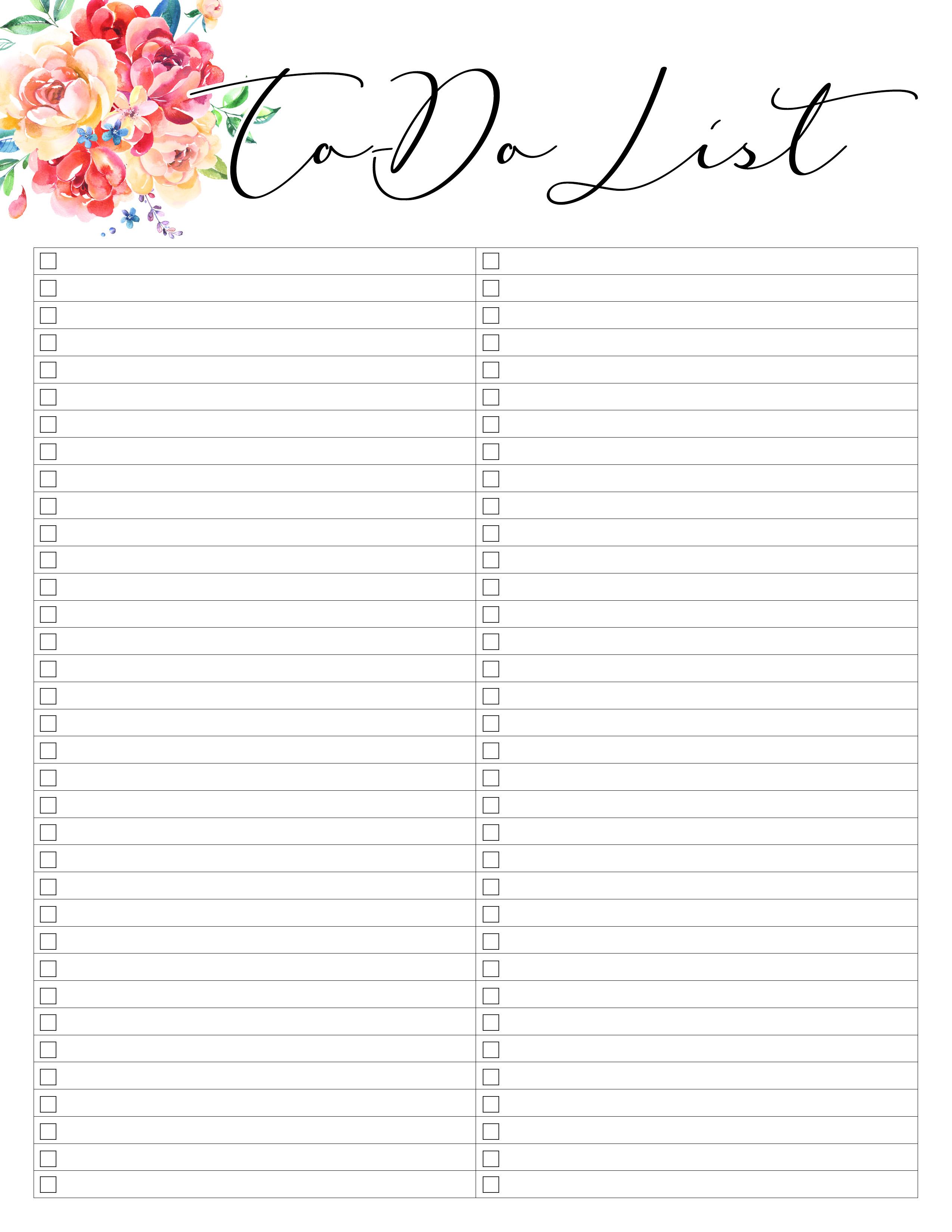 TCM-Floral-Planner-ToDoList - The Cottage Market