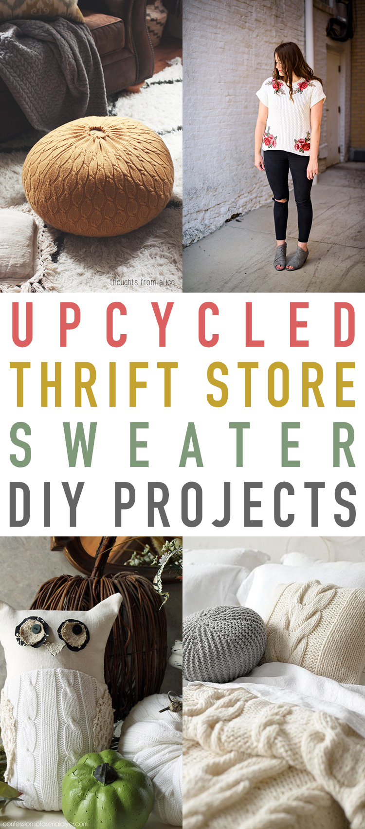 Upcycled Thrift Store Sweater DIY Projects