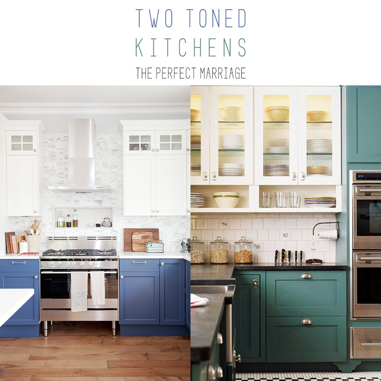 two tone cabinets kitchen two toned kitchens the marriage the cottage market 27388