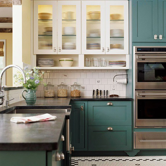 This Kitchen By BlogTheDPages Give The Whole Two Tone Look A Different  Twist. Not Only Is The Bottom Cabinets A Light Neutral Cabinetu2026it Is Also  Textured ...