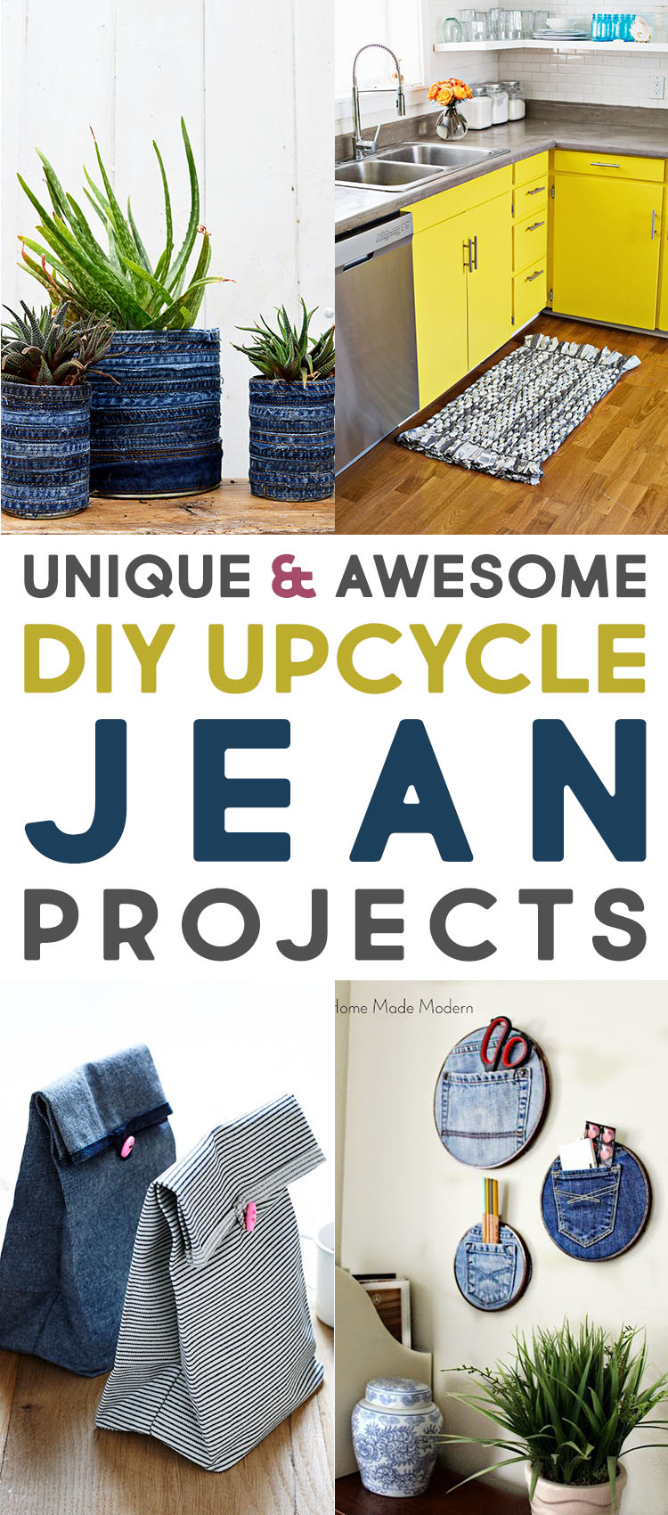 Unique and Awesome DIY Upcycle Jean Projects
