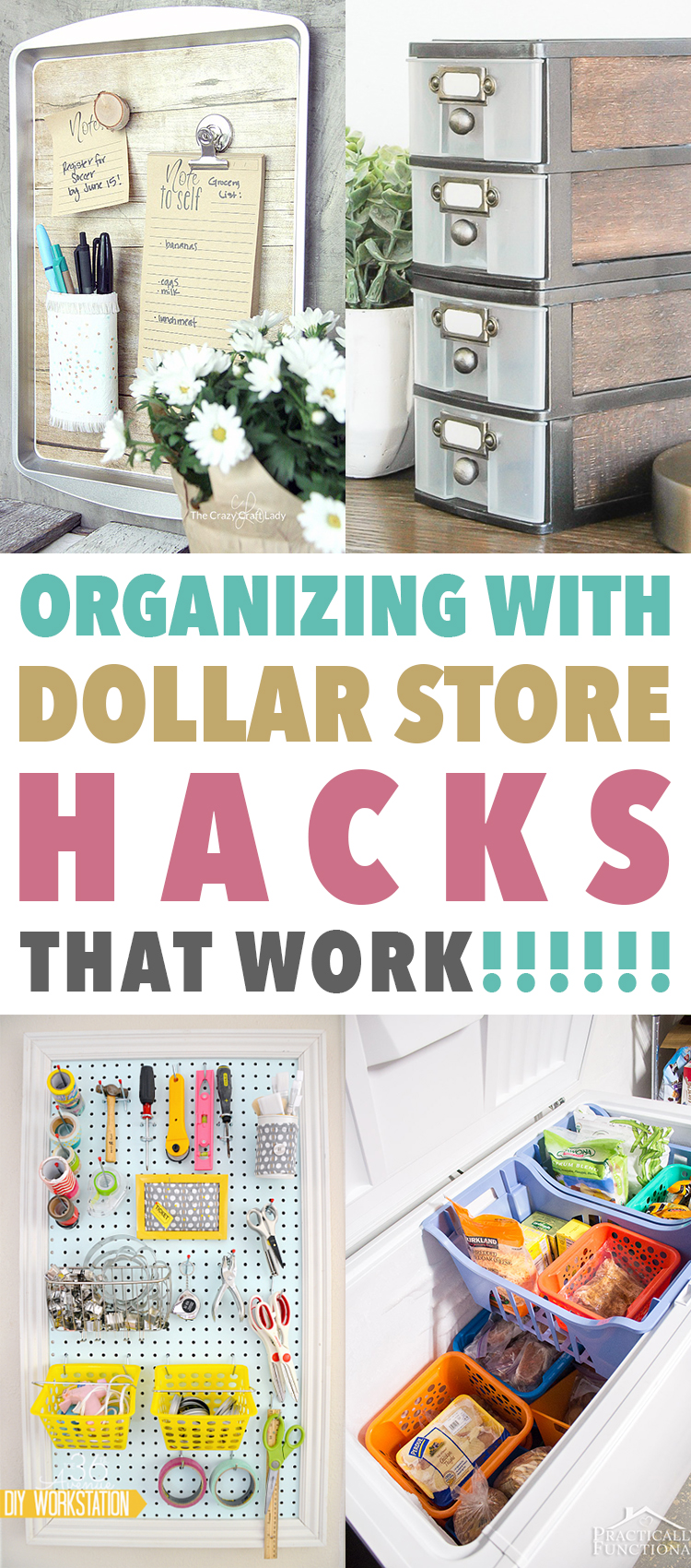 Organizing With Dollar Store Hacks That WORK!